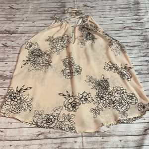LUSH WOMEN'S FLORAL SLEEVELESS BLOUSE EUC